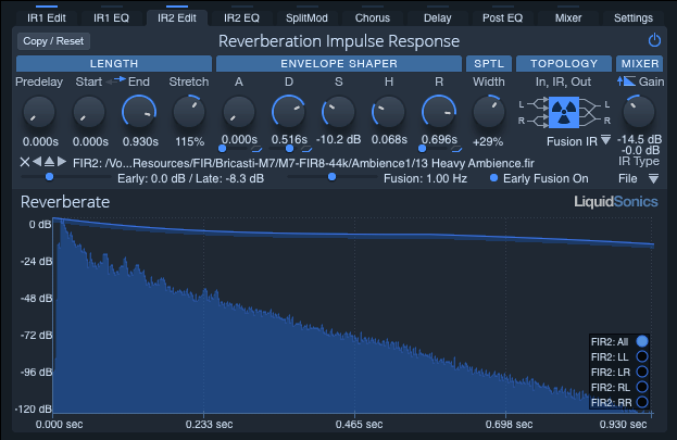 Reverberate II reverb plugin