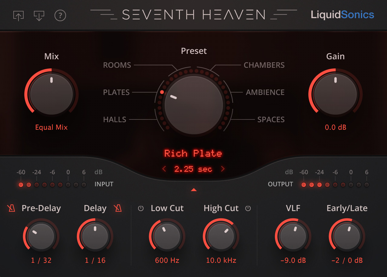 Seventh Heaven convolution reverb plugin - AAX, VST, AU - LiquidSonics