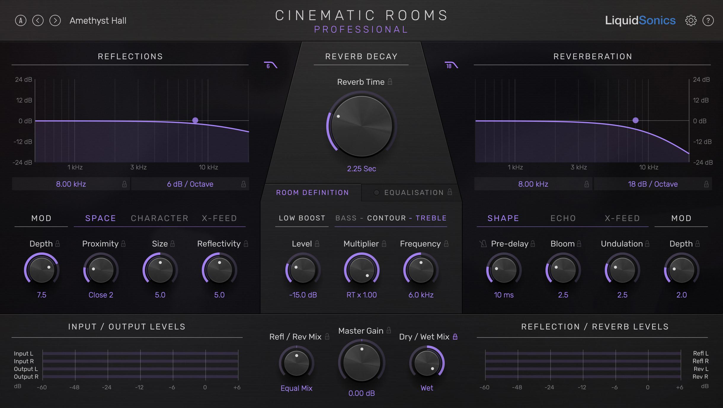 Cinematic Rooms Pro Main UI