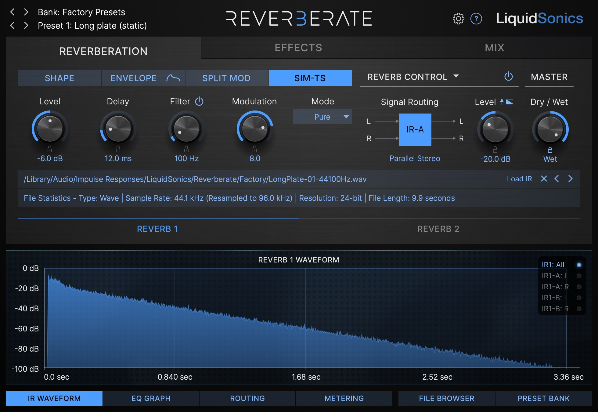 Reverberate 3 Product Shot - True Stereo Simulation