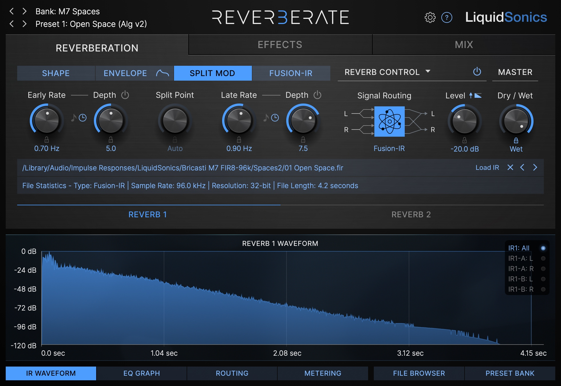 Reverberate 3 Split Mod Example 2