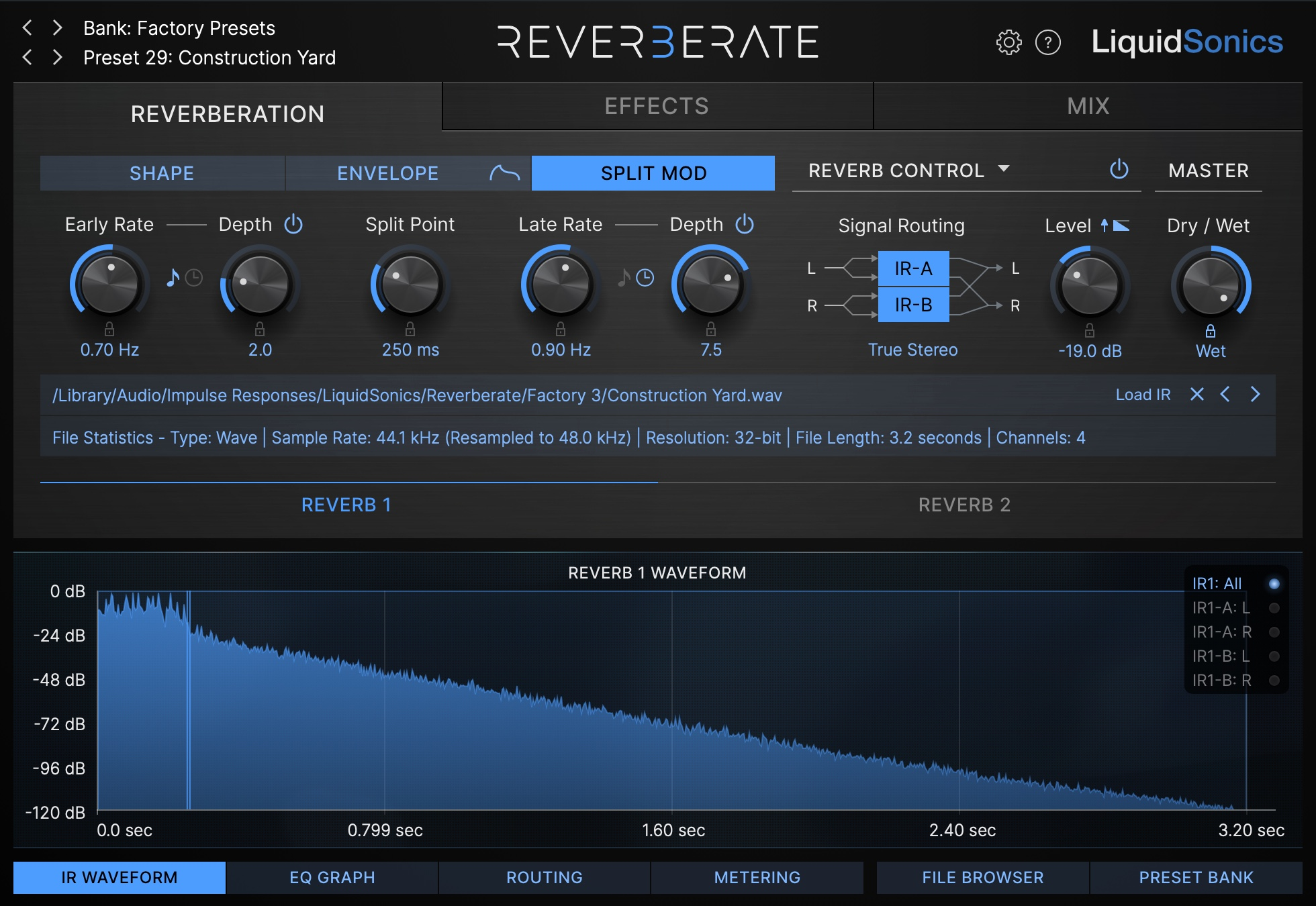 Reverberate 3 Split Mod