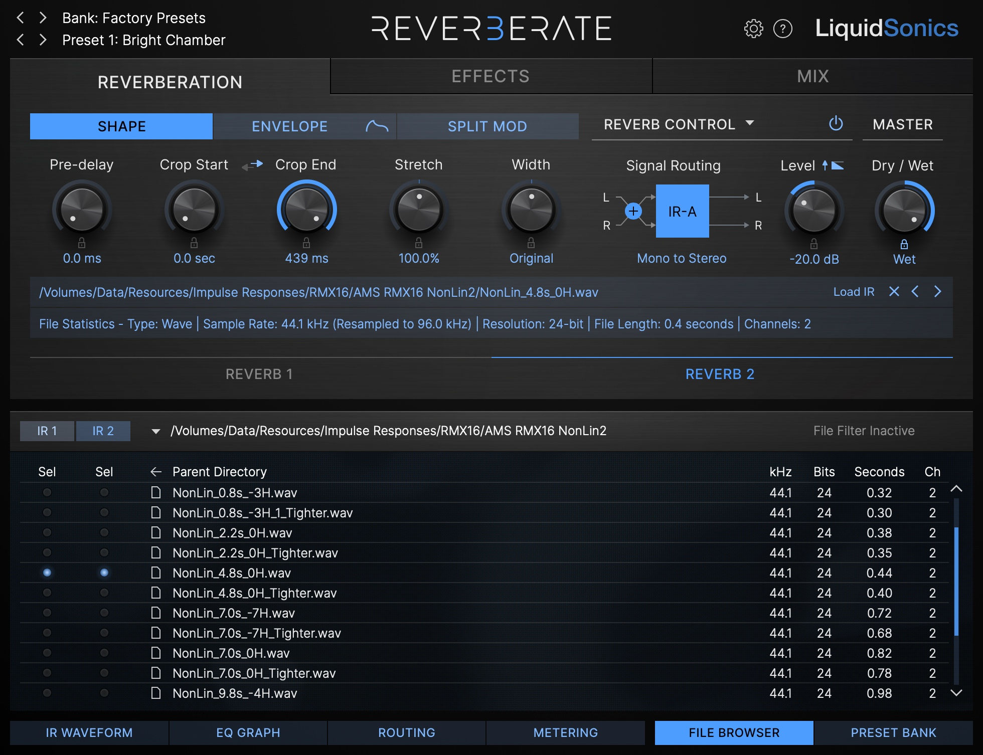 Reverberate 3 - RMX16 Files