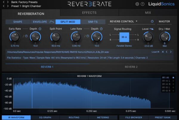 Reverberate 3 - RMX16 Split-Mod